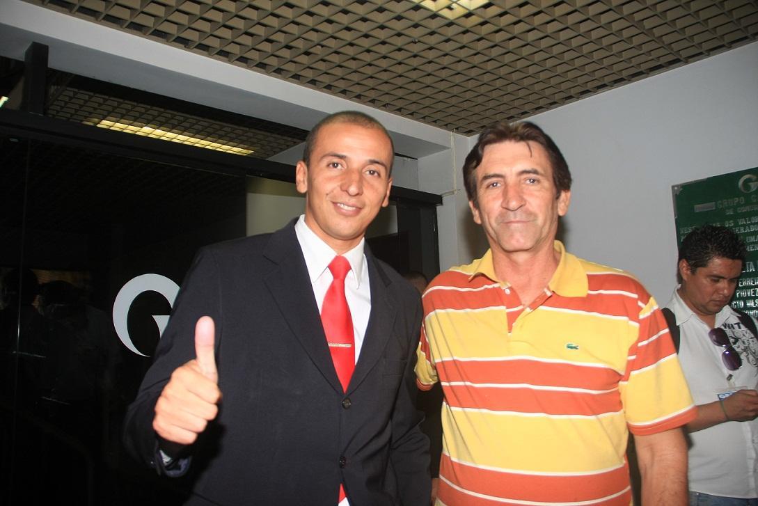Procurador Mauro, candidato a prefeito pelo PSOL em Cuiabá, com Miltão, candidato do partido a prefeito em Várzea Grande