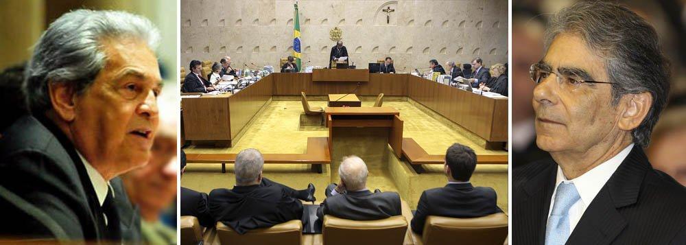 """Bandeira de Melo e seu """"irmão"""", o ministro agora aposentado do STF Ayres de Brito"""