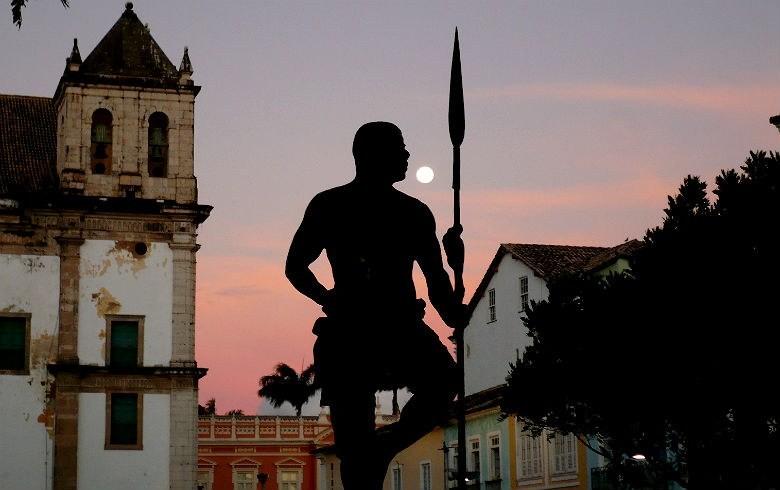 Estátua em homenagem a Zumbi dos Palmares, em Salvador, Bahia