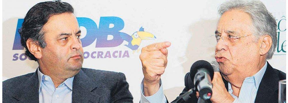 Aécio e FHC, lideranças nacionais do PSDB