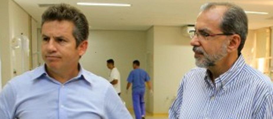 Mauro Mendes, prefeito e Mauro Mendes, secretário de Saúde: nenhuma mudança, na situação caotica do Pronto Socorro de Cuiabá