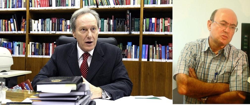 O ministro Ricardo Lewandowski e o deputado superprocessado Geraldo Riva, do PSD-MT