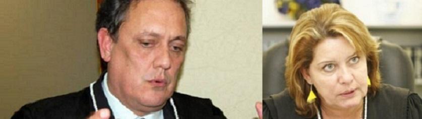 Rui Ramos, desembargador do Tribunal de Justiça e a juíza Selma Rosane Santos Arruda,  , que responde pela Vara Especializada Contra o Crime Organizado.
