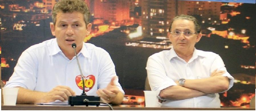 Mauro Mendes e Chico Galindo: o muito criticado prefeito de ontem sugere que o prefeito de hoje ainda não apresentou novidade nenhuma na Prefeitura. E muita gente concorda