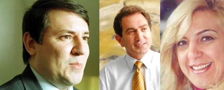 O juiz Cesar Bearsi, o secretário Pedro Nadaf e a empresária Carlina Jacob