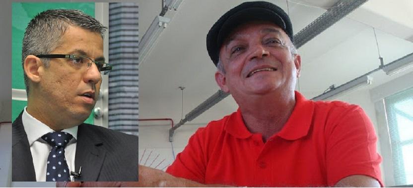 Maurico Aude, advogado e presidente da OAB e Antônio Cavalcanti, o Ceará, coordenador do MCCE em Mato Grosso