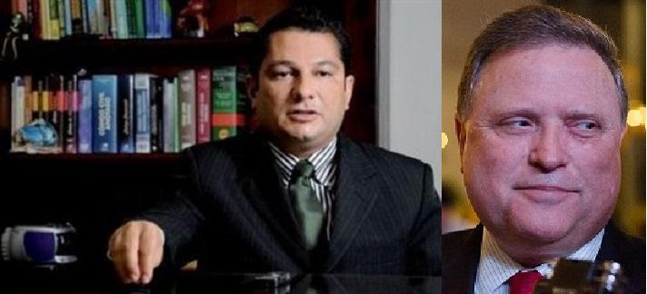 O juiz federal Julier Sebastião e o senador e ex-governador Blairo Maggi