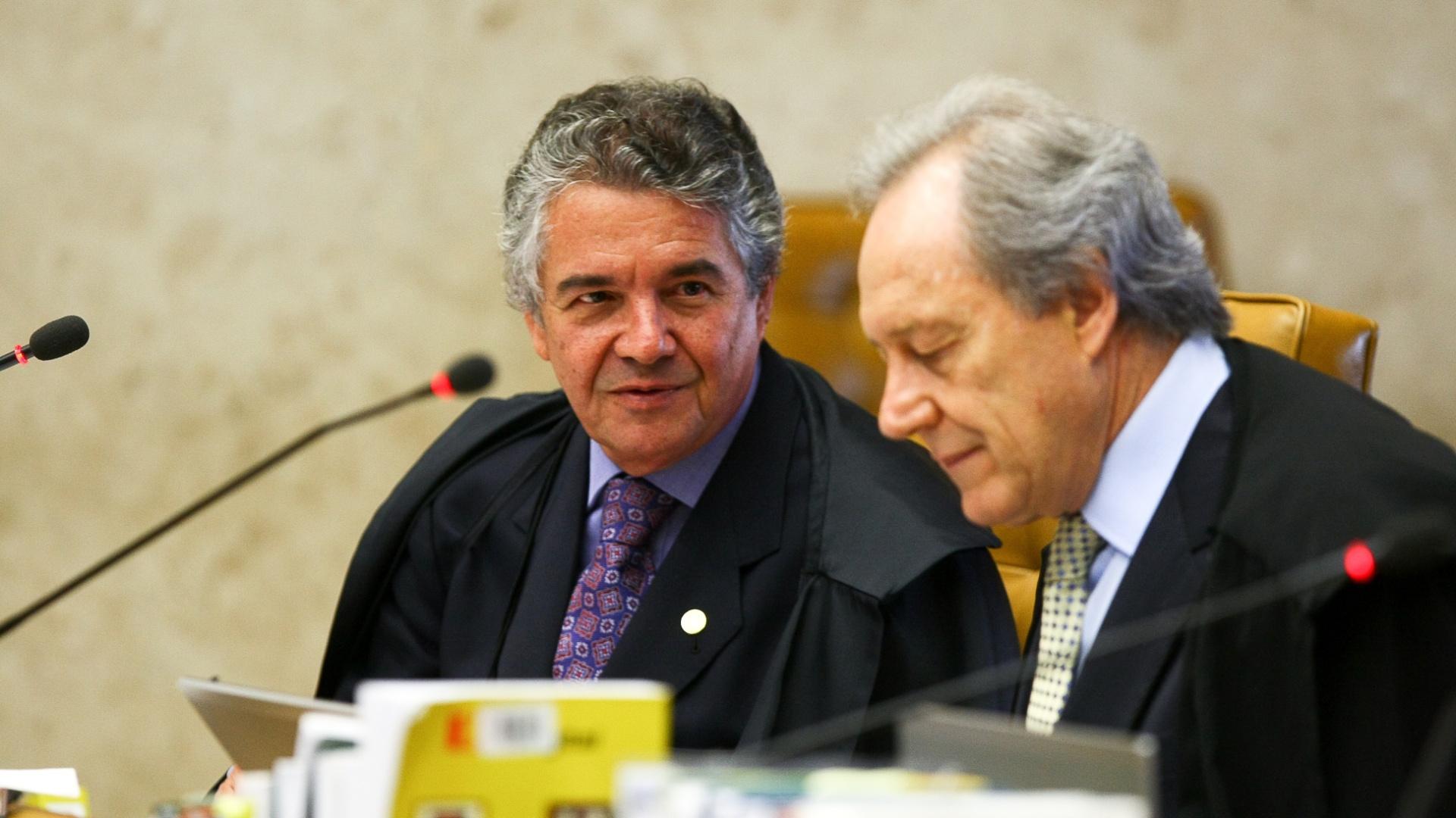 O ministro Marco Aurélio foi um dos que se manifestaram em defesa do direito de divergência do ministro Ricardo Lewandowski, na hora das votações