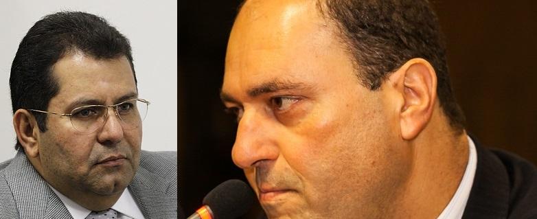 O juiz Márcio Guedes, que suspendeu o andamento do processo e o advogado Francisco Faiad, acusado por outros advogados de falsificar a assinatura de um advogado que já morreu