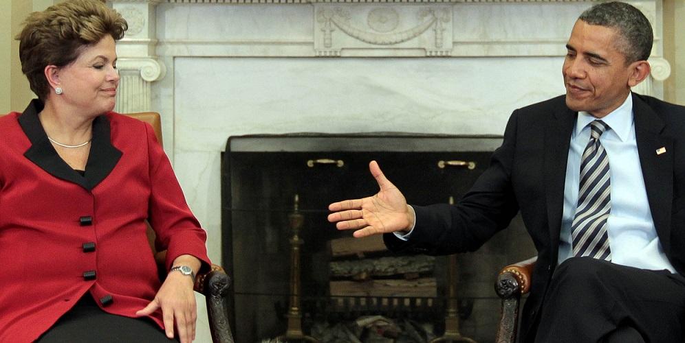 A presidente Dilma Roussef e o presidente Barack Obama