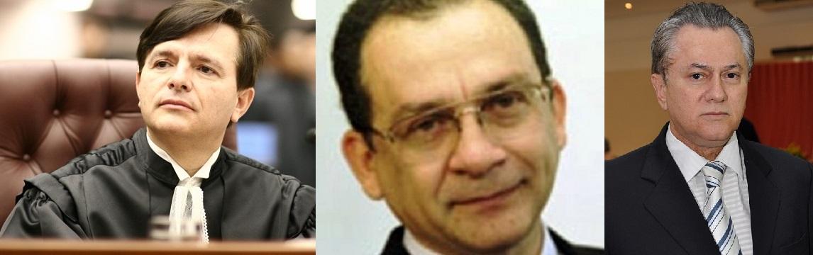 Antônio Herman de Vasconcelos e Benjamin, ministro do STJ, Geraldo Palmeira, juiz punido pelo TJMT e Orlando Perri, desembargador que atuou como relator do PAD que levou à punição de Palmeira, em 2004
