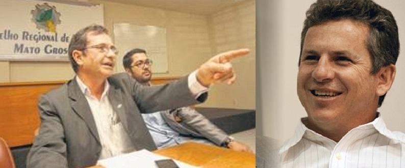 O jornalista Ademar Adams e o prefeito de Cuiabá, Mauro Mendes