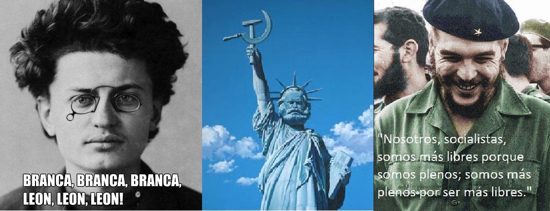 Leon Trotsky, Karl Marx e Che Guevara, ícones da esquerda, através dos séculos