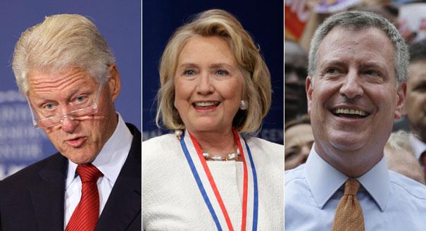 O Bill de Nova York vem recebendo forte apoio do casal Bill e Hillary Clinton