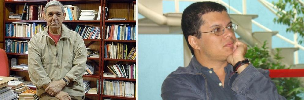 O cientista político Wanderley Guilherme dos Santos e o historiador Lincoln Secco, pensadores que se debruçam sobre o fenômeno urbano dos Black Bocs