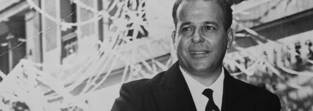 João Goulart, presidente do Brasil, deposto pelo golpe militar em 1964