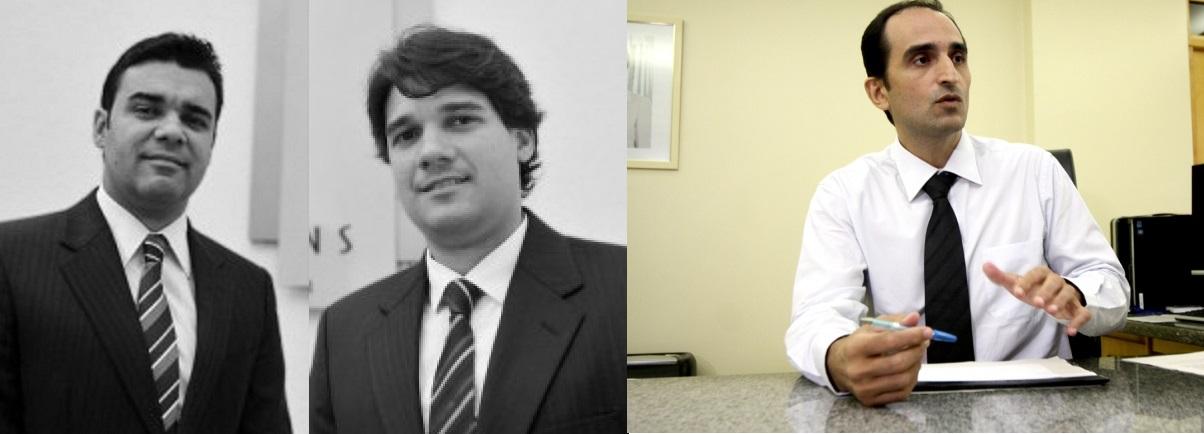 Kleber e Alex Tocantis, advogados e o delegado Elzio Vicente, que responde atualmente pela superintendência da Policia Federal em Mato Grosso