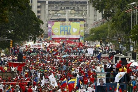Pro-Government-Rally-in-Venezuela