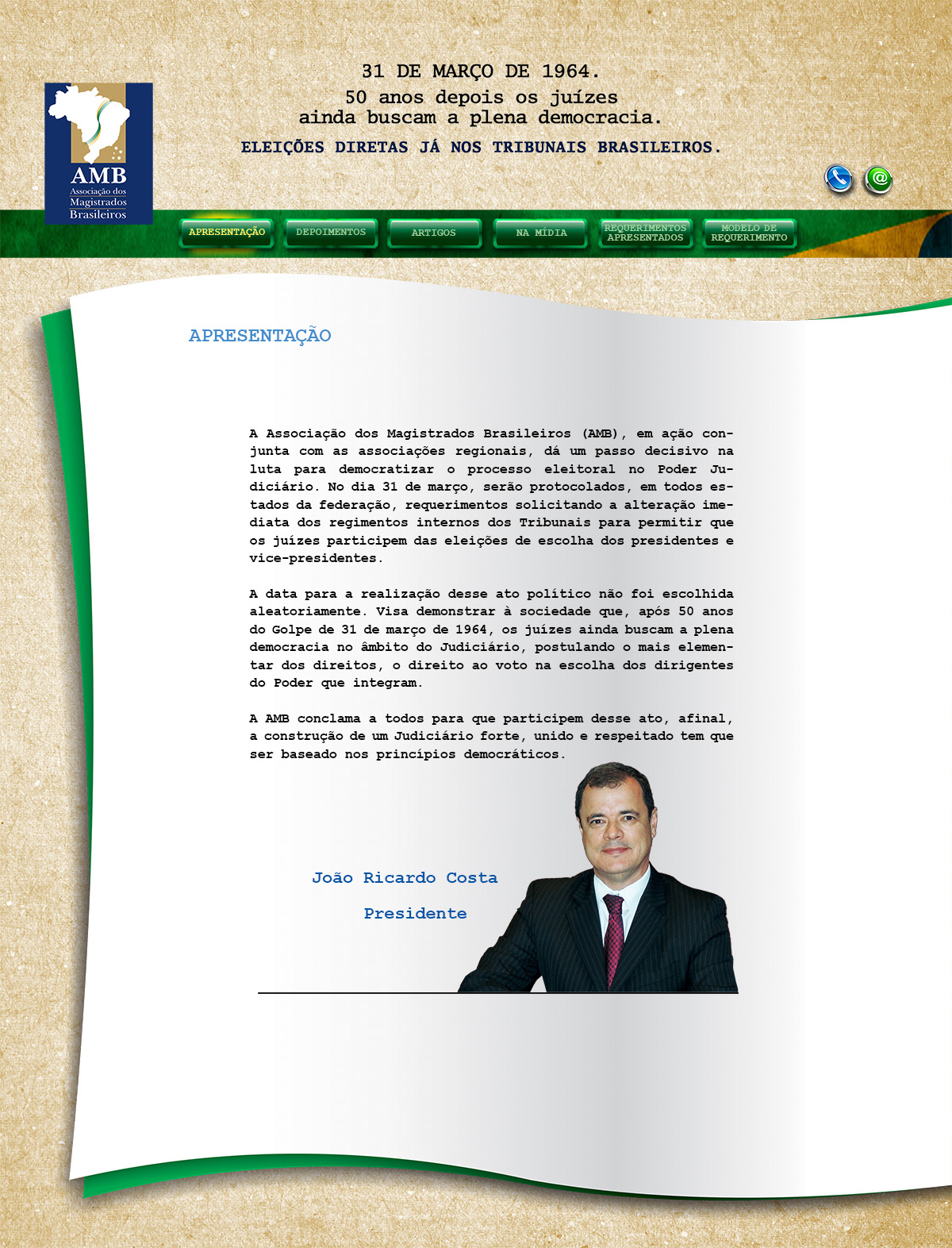 Hotsite_Eleicoes_Diretas_AMB