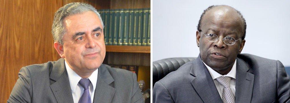 O jurista Luiz Flávio Gomes e o ministro Joaquim Barbosa