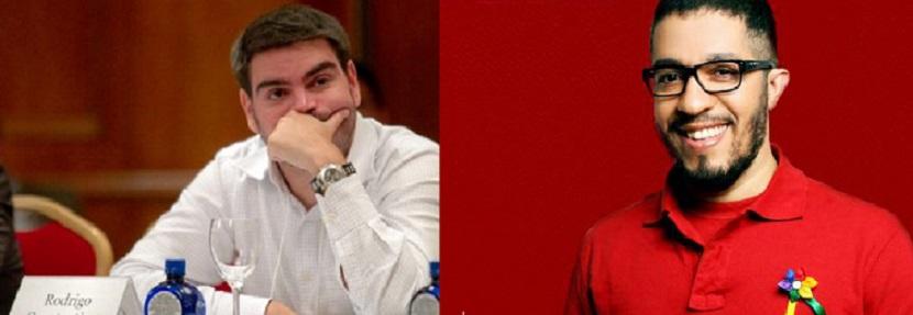 O economista Rodrigo Constantino, articulista de O Globo e o deputado federal Jean Wyllys, do PSOL