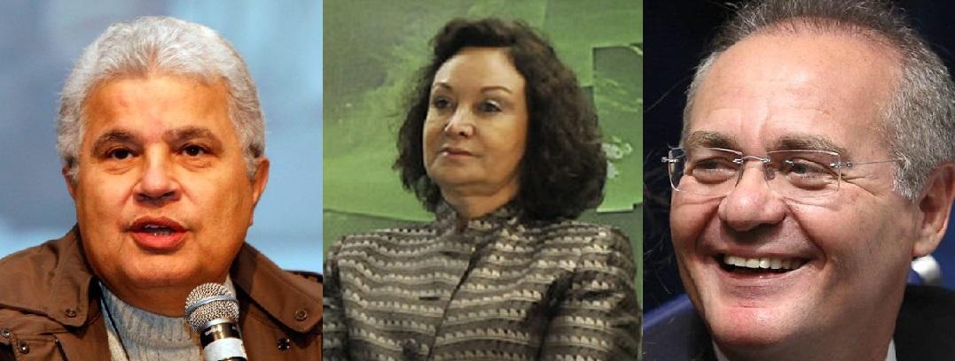 Ricardo Noblat, jornalista e blogueiro de O Globo, Nancy Andrighi, ministra do STJ e Renan Calheiros, senador do PMDB de Alagoas e presidente do Senado Federal