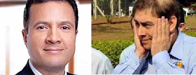 O atual presidente da OAB-MS, advogado Júlio Cesar Souza Rodrigues e o ex-prefeito de Campo Grande, advogado Alcides Bernal