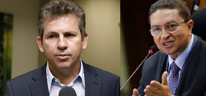O prefeito Mauro Mendes e o conselheiro do Tribunal de Contas, Valter Albano
