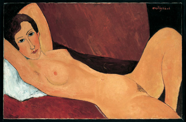 A grande figura deitada, do pintor Modigliani
