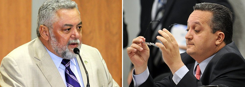 Percival Muniz, do PPS e Pedro Taques, do PDT