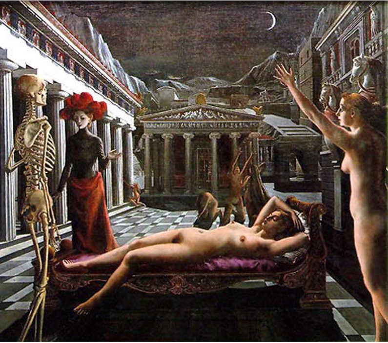 A Vênus dormindo, de Paul Delvaux