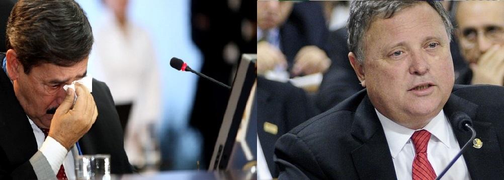 Alencar Soares, conselheiro aposentado do Tribunal de Contas de Mato Grosso e Blairo Maggi, ex-governador e atual senador da República, pelo PR