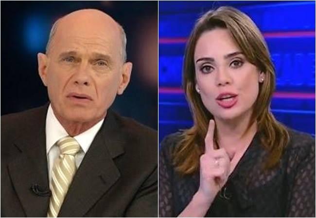 Ricardo Boechat (Bandeirantes) e Rachel Sheherazade (SBT) disputam a preferência dos telespectadores de segunda a sexta, comando jornais que vão ao ar antes do Jornal Nacional, da Rede Globo