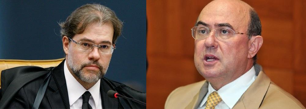 O ministro Antonio Dias Toffoli, delfim do Supremo Tribunal Federal e o deputado Geraldo Riva, velha raposa do Legislativo mato-grossense