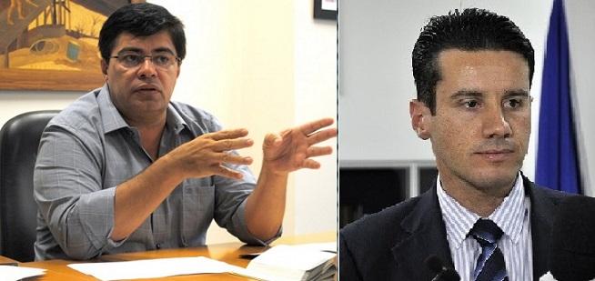 Gerson Barbosa, promotor e Rodrigo Curvo, juiz, os dois com atuação na área do Meio Ambiente, na capital de Mato Grosso
