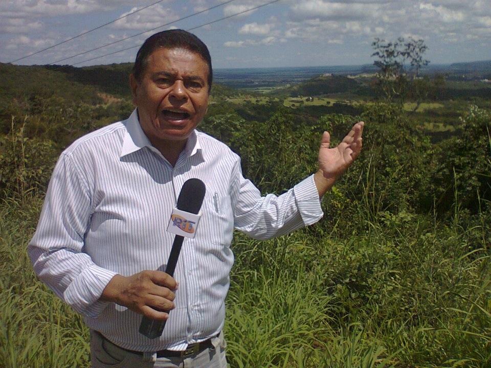 Lino Pinheiro, veterano repórter do programa SBT Comunidade, da TV Rondon, Canal 5, de Cuiabá