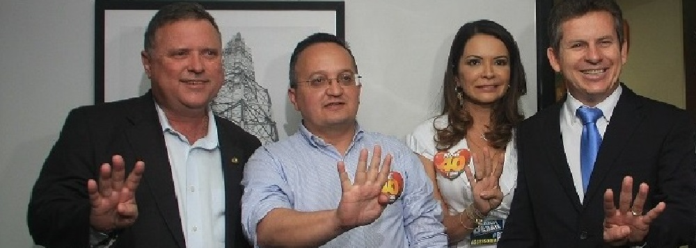 Blairo Maggi, Pedro Taques e Mauro Mendes, juntos na campanha de 2012