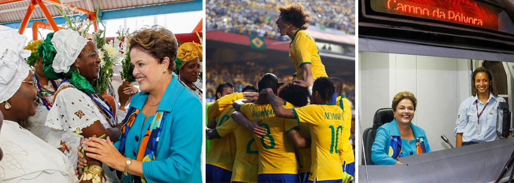 """Os gritos do Itaquerão deixam de ser limão contra Dilma, viram limonada a favor dela e reforçam o bordão dos """"pobres contra os ricos"""" - avalia Eliane Cantanhede"""