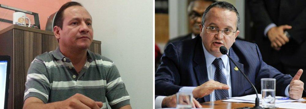 Pedro Taques, do PDT e Muvuca, do PHS, candidato  que entrará na campanha aparentemente só para atazanar a vida de Pedro Taques