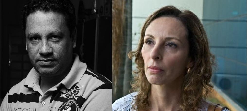 O jornalista Rui Matos e a advogada Luciana Serafim
