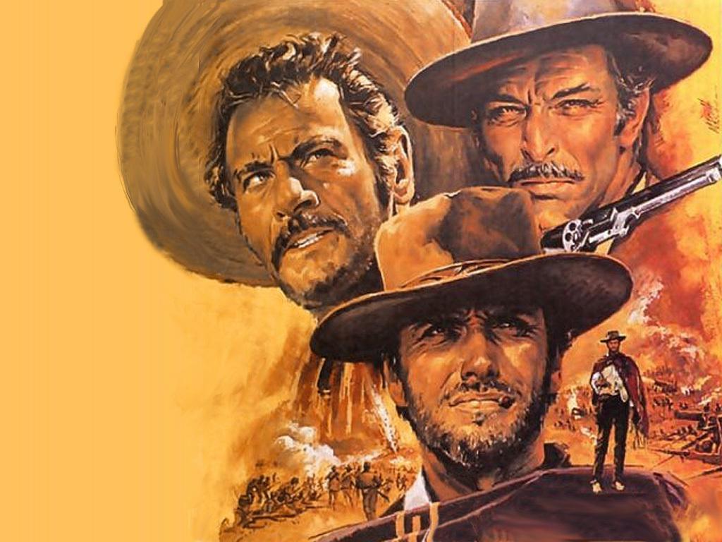 """Cartaz do filme """"Três Homens em Conflito"""" (O Bom, O Mau e o Feio), que marcou a carreira sempre aplaudida de Eli Wallach"""