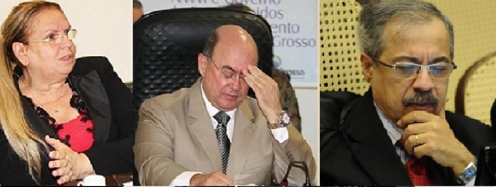 Maria Erotides, desembargadora do TJ-MT, José Geraldo Riva, deputado estadual em Mato Grosso e Og Fernandes, jornalista e ministro do Superior Tribunal de Justiça