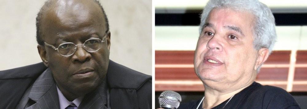 Joaquim Barbosa, hoje completamente afastado do Judiciário, já que optou pela aposentadoria, e o jornalista Ricardo Noblat, vinculado ao jornal O Globo