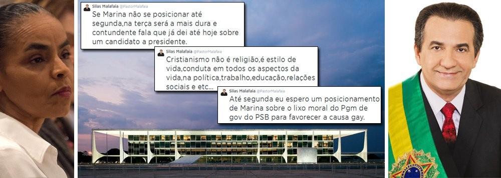 Marina Silva e as reprimendas que recebeu do pastor Silas Malafaia