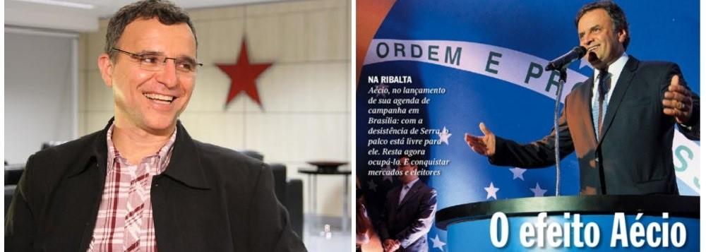 O historiador Valter Pomar, dirigente nacional do Partido dos Trabalhadores e Aécio Neves, economista, candidato a presidência da República pelo PSDB