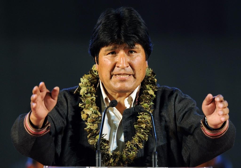 Evo Morales, presidente reeleito da Bolívia
