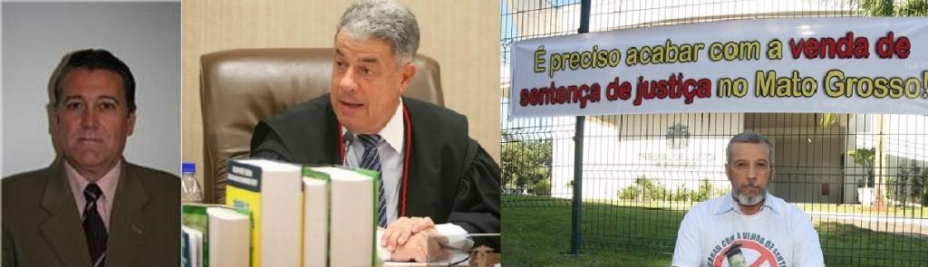 O juiz Mauro Bianchini, o desembargador Juraci Persiani e o denunciante, o produtor rural Clóvis Arantes, que apresentou denuncia no Conselho Nacional de Justiça contra os dois magistrados aposentados, agora atuando como advogados