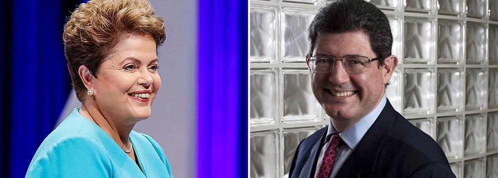 A presidente Dilma e o ministro da Fazenda Joaquim Levy