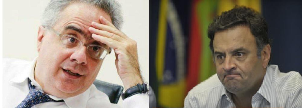 Luis Nassif, jornalista e Aécio Neves, senador pelo PSDB  de Minas Gerais
