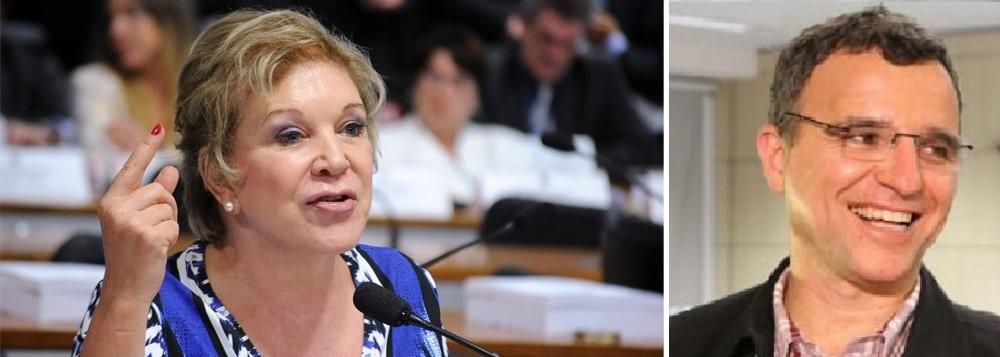 Marta Suplicy, senadora, e Valter Pomar, dirigente nacional do PT